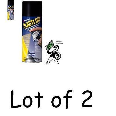 Lot Of 2 Performix 11 Oz Black Matte Plasti Dip Rubber Coating Spray Paint