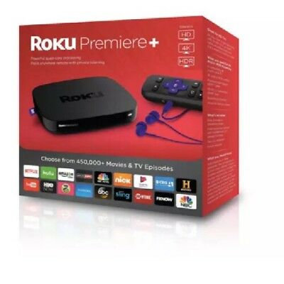 BRAND NEW SEALED Roku Premiere+ Plus 4K HDR Streaming Media Player 4630RW