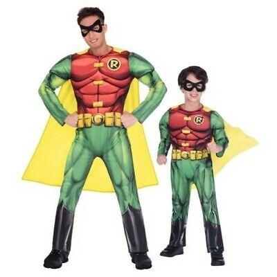 Deluxe Batman Robin Kostüm Superheld Kostüm Titans Kinder Jungen Herren Buch Tag