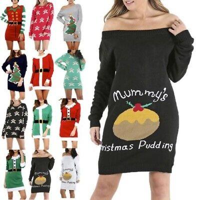 Damen Weihnachten Weihnachtsmann Elfe Kostüm Lebkuchen Pudding - Damen Lebkuchen Mann Kostüm