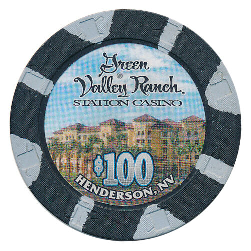 GREEN VALLEY RANCH $100 OBSOLETE CASINO HOUSE CHIP HENDERSON NV - FREE SHIPPING
