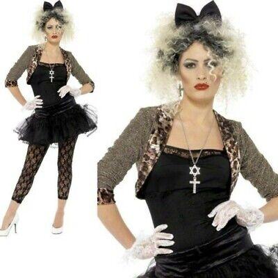 Madonna Kostüm 80er Jahre Wildes Kind Pop Star Damen Kostüm Outfit (Madonna Kostüme)