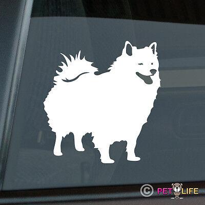 American Eskimo Sticker Die Cut Vinyl - Spitz Dog Eskie American Eskimo Dog Sticker