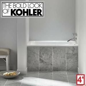 "NEW KOHLER GREEK 4' ACRYLIC BATHTUB - 128628270 - WHITE 48"" x 32"" BATHROOM BATHROOMS BATH TUB TUBS BATHTUBS SOAKING D..."