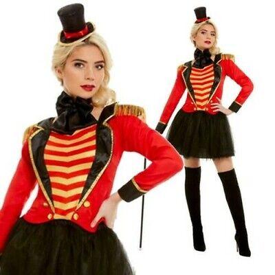Damen Deluxe Greatest Zirkusdirektor Zirkus Showman Lion Tamer - Deluxe Zirkus Clown Kostüme