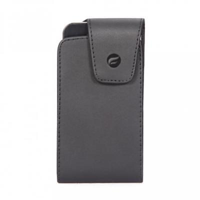 BLACK LEATHER PHONE CASE SIDEWAYS COVER POUCH BELT HOLSTER w