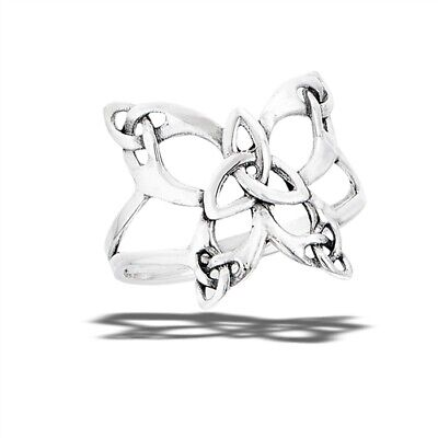 Sterling Silver Celtic Butterfly Ring - Free Gift Packaging