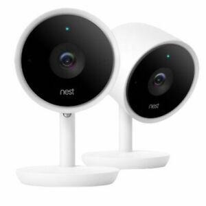 Nest Cam IQ Indoor Security Camera - 2 Pack, NC3200US, White