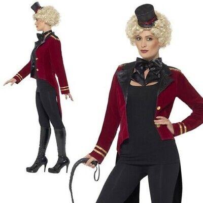 Zirkusdirektor Kostüm Zirkus Showman Kostüm Outfit Neu UK 8-18