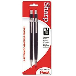 PENTEL-P205C-SHARP-AUTOMATIC-PENCILS-0-5mm-BLACK