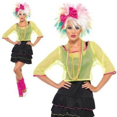80er Jahre Pop Schlampe Kostüm Neon Retro Madonna - Madonna Kostüme 80er