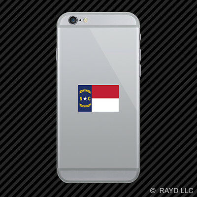 North Carolina Flag Cell Phone Sticker Mobile state north carolinian NC
