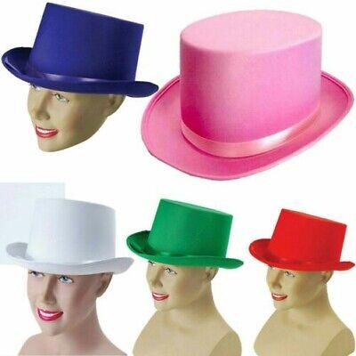 Top Hut Satin Premum Qualität Kostüm Viktorianisch Erwachsene Showman Mens - Viktorianischer Hut Kostüm