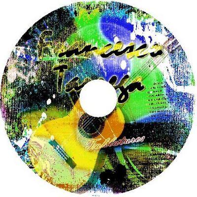 FRANCISCO TARREGA CLASSICAL GUITAR TAB CD TABLATURE BEST OF HITS ACOUSTIC (Best Classical Guitar Tabs)