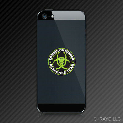 (2x) Zombie Outbreak Response Team Cell Phone Sticker Decal Apocalypse Mobile