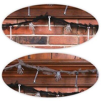 7ft Hanging Plastic Bones Banner Garland Metallic Body Parts Halloween Decor UK - Halloween Garlands Uk