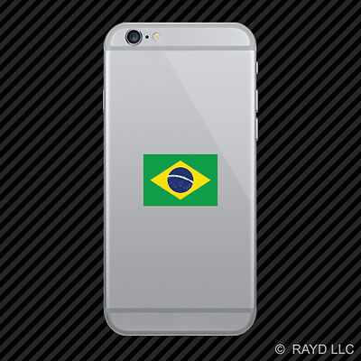 Brazilian Flag Cell Phone Sticker Mobile Brazil BRA BA