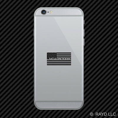 Subdued Molon Labe American Flag Cell Phone Sticker Mobile Die Cut