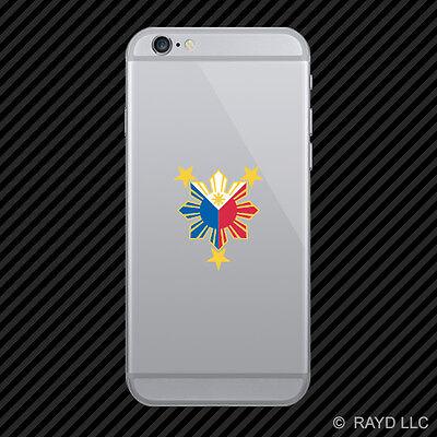 Filipino Pride Star Sun Cell Phone Sticker Mobile Die Cut Philippines