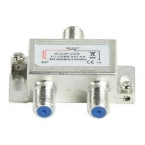 KÖNIG SAT UHF VHF WEICHE Satellitenweiche mit Spannungsdurchlass