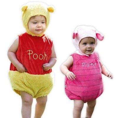 Offiziell Disney Winnie Puuh Bär oder Ferkel Überwurf mit Ohr Hut Kinder - Ferkel Ohren Kostüm