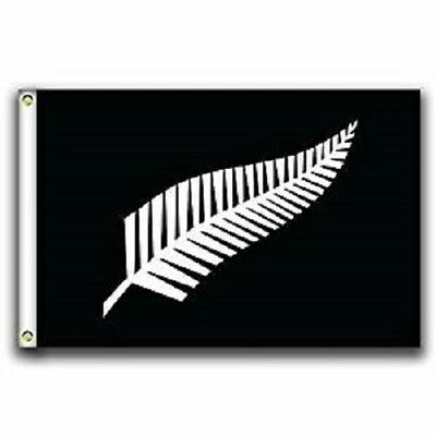 3x5 The Silver Fern of New Zealand Flag 3'x5' Banner Brass G