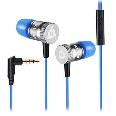 Klim Fusion High Quality Audio In-Ear Headphones with Memory Foam Blue