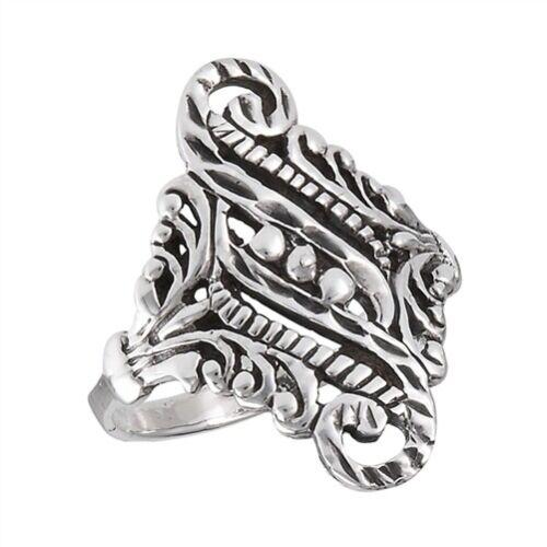 Sterling Silver Victorian Filigree Ring