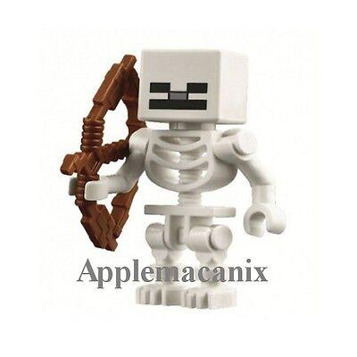 NEW LEGO 21114 Minecraft The Farm SKELETON Minifigure Figure w/Bow and Arrow - Minecraft Bow And Arrow Toy