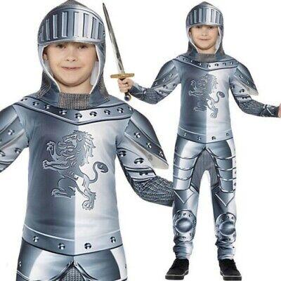 Kinder Armoured Knight Kostüm Jungen Mittelalterlicher Kreuzritter Outfit (Jungen Mittelalter Kostüme)