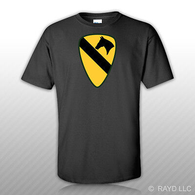 1st Cavalry First Team T-shirt - 1st Cavalry Division T-Shirt Tee Shirt Free Sticker first team cav fort hood