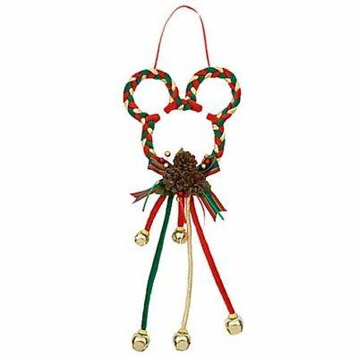 Disney Parks Mickey Ears Christmas Door Hanger Red Green Gold Jingle Bells NEW - Jingle Bells Christmas Door