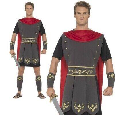 Erwachsene Römischer Krieger Kostüm Herren Centurion Gladiator Kostüm Neu (Erwachsenen Krieger Kostüme)