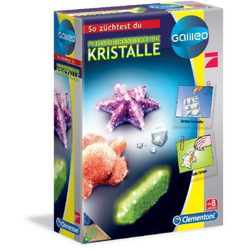 Clementoni 69487.7 - Galileo, Fluoreszierende Kristalle züchten Experimentierbox