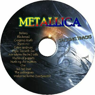 METALLICA GUITAR BACKING TRACKS CD BEST GREATEST HITS MUSIC PLAY ALONG