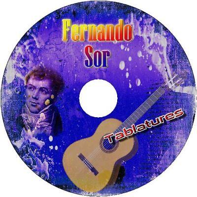 FERNANDO SOR CLASSICAL GUITAR TAB CD TABLATURE BEST OF GREATEST ACOUSTIC (Best Classical Guitar Tabs)
