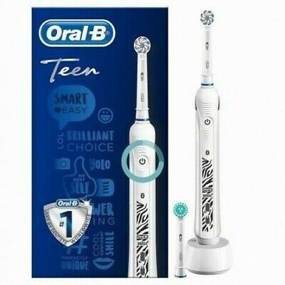 ORAL-B Teen Blanco Cepillo Eléctrico Bluetooth Con Inteligente Coaching