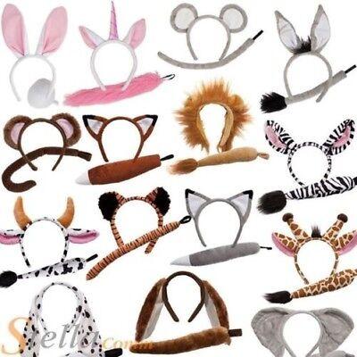 Tier Ohren Stirnband & Safari Kostüm Mädchen Jungen Outfit