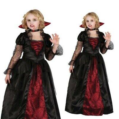 Deluxe Gothic Vampirin Mädchen Kostüm Kinder Halloween Vampir - Deluxe Vampir Kind Kostüme