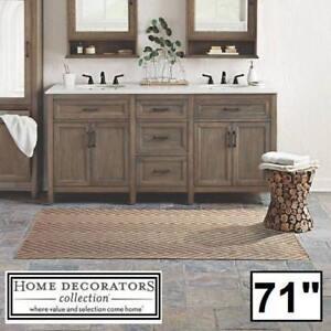 """NEW* WALDEN 71"""" DOUBLE VANITY COMBO 9461800270 140241869 HOME DECORATORS DRIFTWOODENGINEERED STONE TOP BATH BATHROOM ..."""