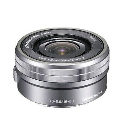 Sony E PZ 16-50mm F3.5-5.6 OSS E-mount Lens SELP1650 Silver Bulk