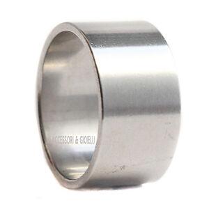 Anello-da-Uomo-Donna-Unisex-in-Acciaio-Liscio-Fascia-Altezza-14mm-Argento-21