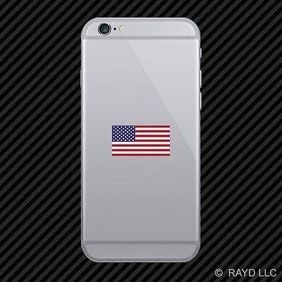 American Flag Cell Phone Sticker Mobile Die Cut america usa