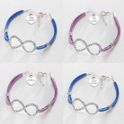 band mit Gravur,Personalisiertes Armband,pink,blau oder (Personalisierte Infinity Armband)