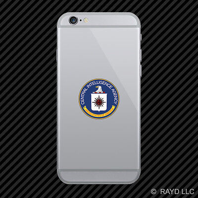Central Intelligence Agency CIA Seal Cell Phone Sticker Mobile Die Cut black usa