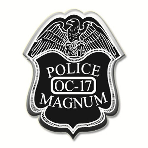 3 Pack Police Magnum PEPPER SPRAY Hard Shell Keychain Clip 1/2 Oz OC-17 - BLACK - $15.49