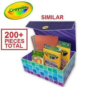 200+ PC NEW CRAYOLA COLOUR STATION COLOURING BOX GIFT SET CRAYONS - MARKERS - COLOURED PENCILS 109597391