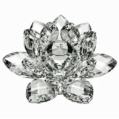 "3"" High Quality Clear Crystal Lotus Flower with Gift Box     USA Seller"
