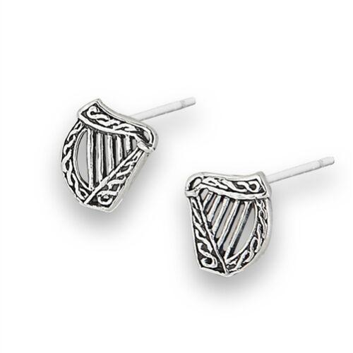 Sterling Silver Celtic Harp Earrings