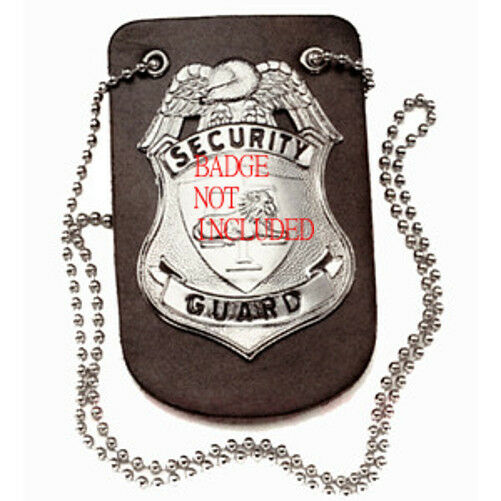 Leather Badge Holder with Neck Chain
